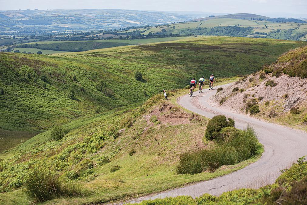 Cycling down the Longmynd